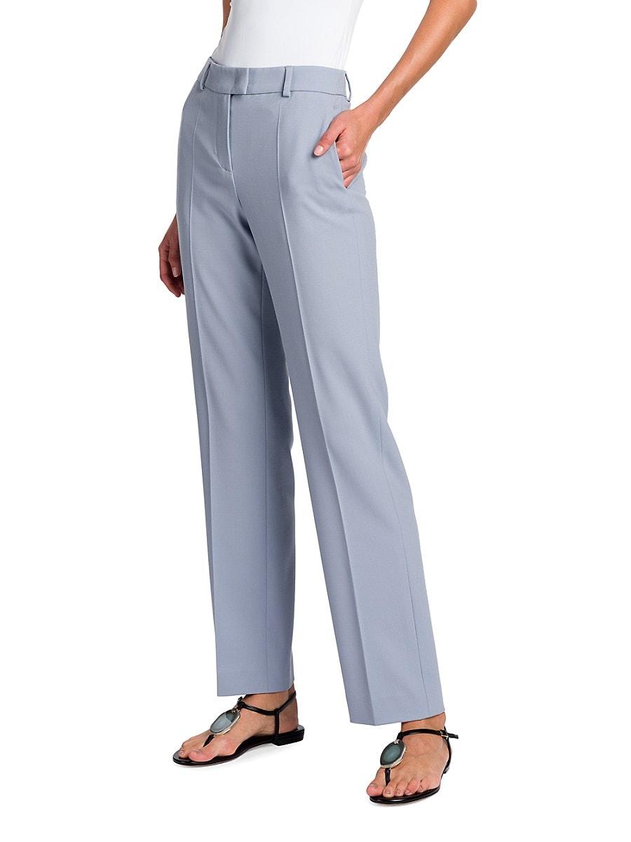 GIORGIO ARMANI Straight pants WOMEN'S STRETCH WOOL TROUSERS