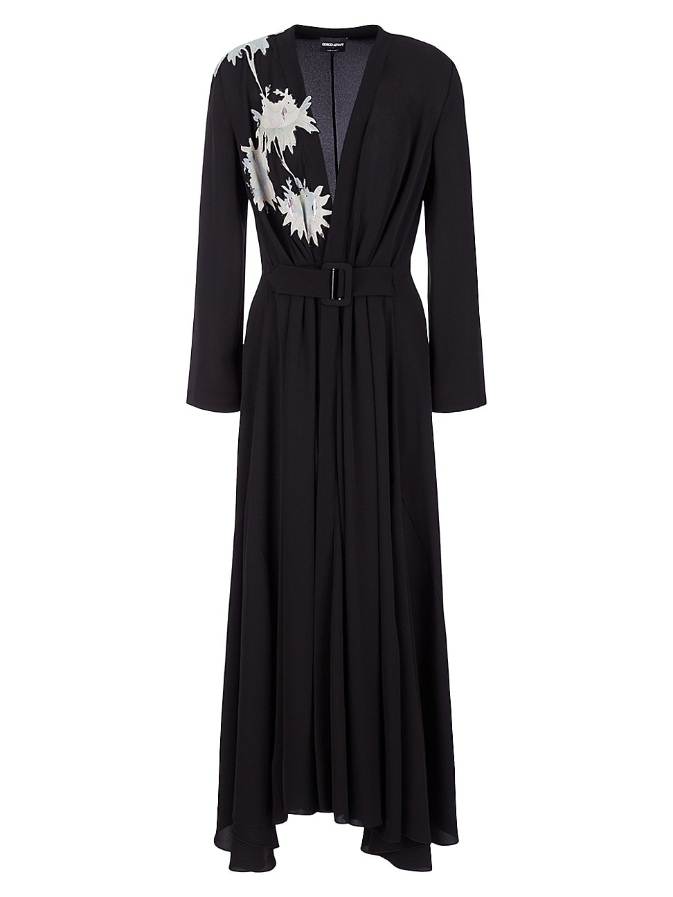 Giorgio Armani WOMEN'S EMBELLISHED HALF-&-HALF BELTED GOWN