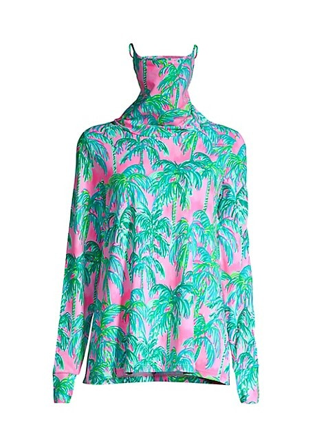 Lilshield Palm Tree UPF 50+ Cowlneck Top