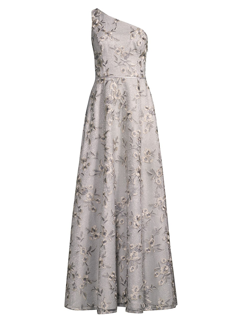 Aidan Mattox WOMEN'S ONE-SHOULDER FLORAL GOWN