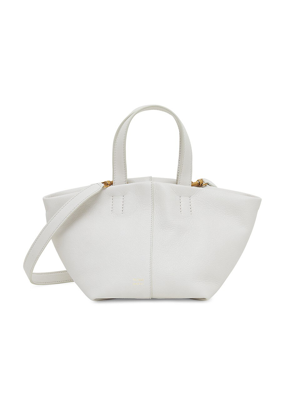 Mansur Gavriel Women's Mini Tulipano Leather Bag In Snow