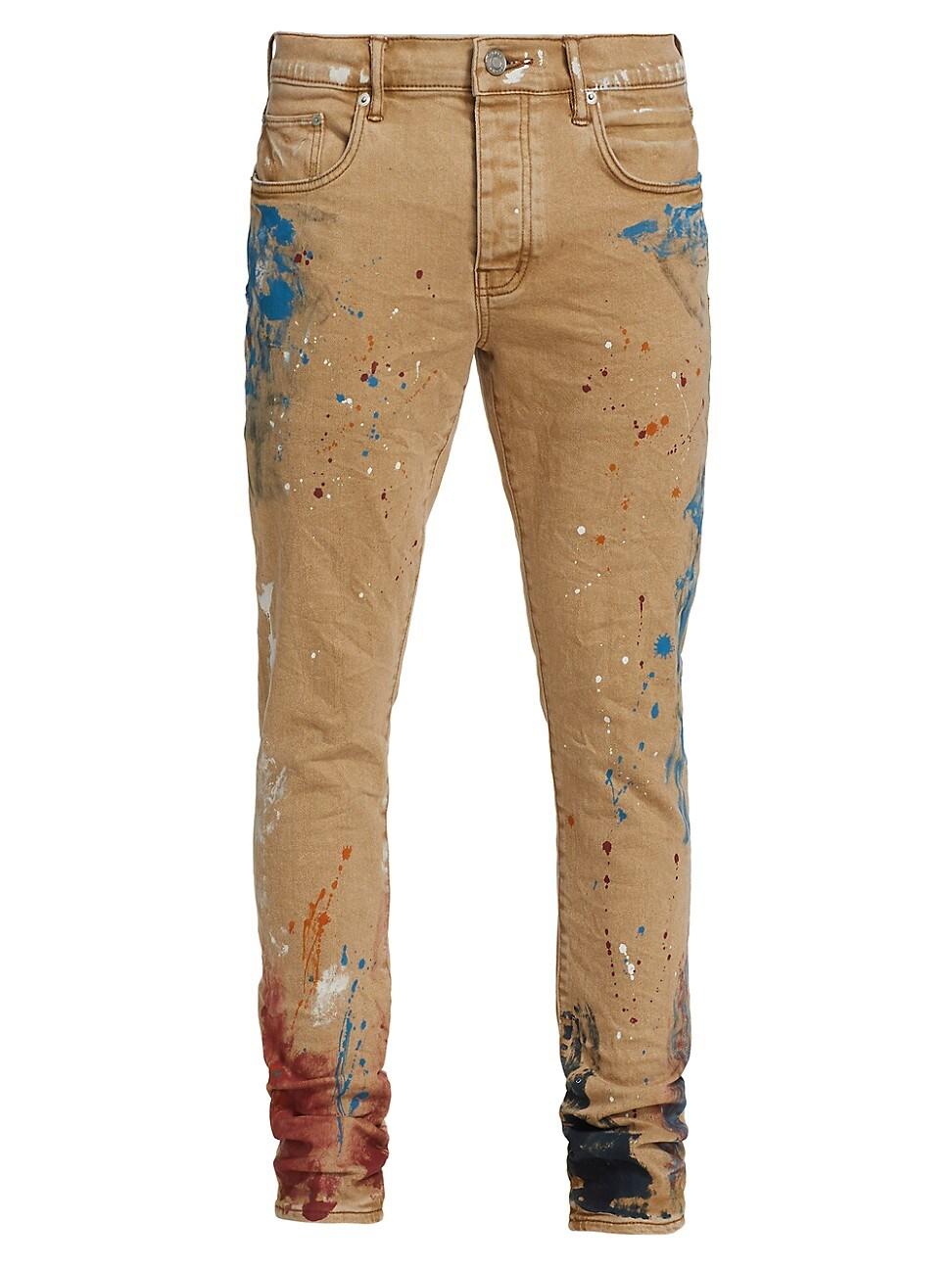 Purple Brand Jeans MEN'S P001 PAINT SPLATTER SKINNY JEANS