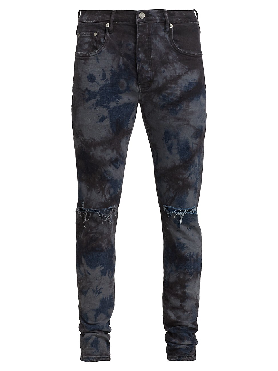 Purple Brand Jeans MEN'S P001 MARBLED DISTRESSED SKINNY JEANS