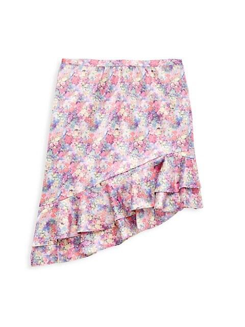 Girl's Asymmetrical Ruffle Skirt