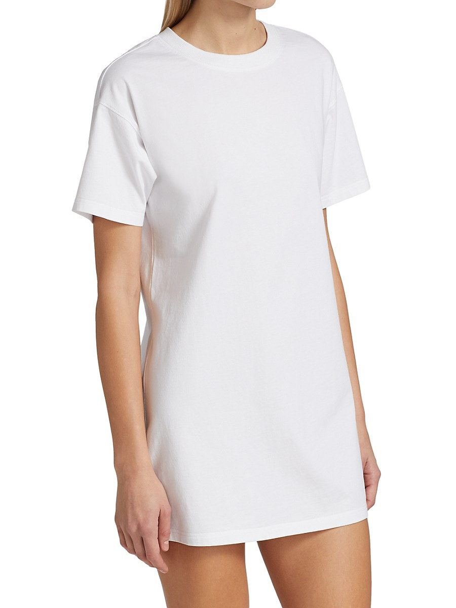 ALICE AND OLIVIA Cottons WOMEN'S GARNER DROP-SHOULDER BOXY T-SHIRT DRESS