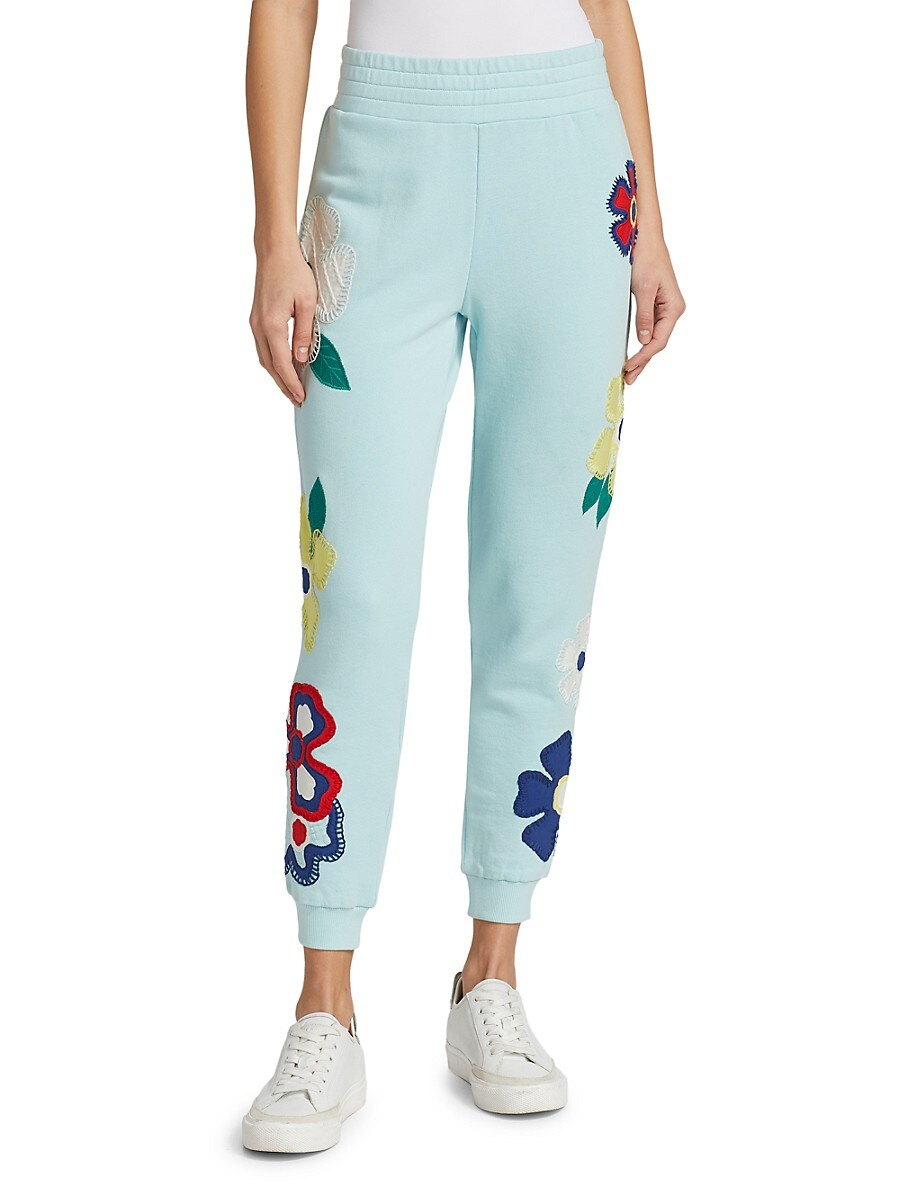 ALICE AND OLIVIA Cottons WOMEN'S NYC SLIM JOGGERS