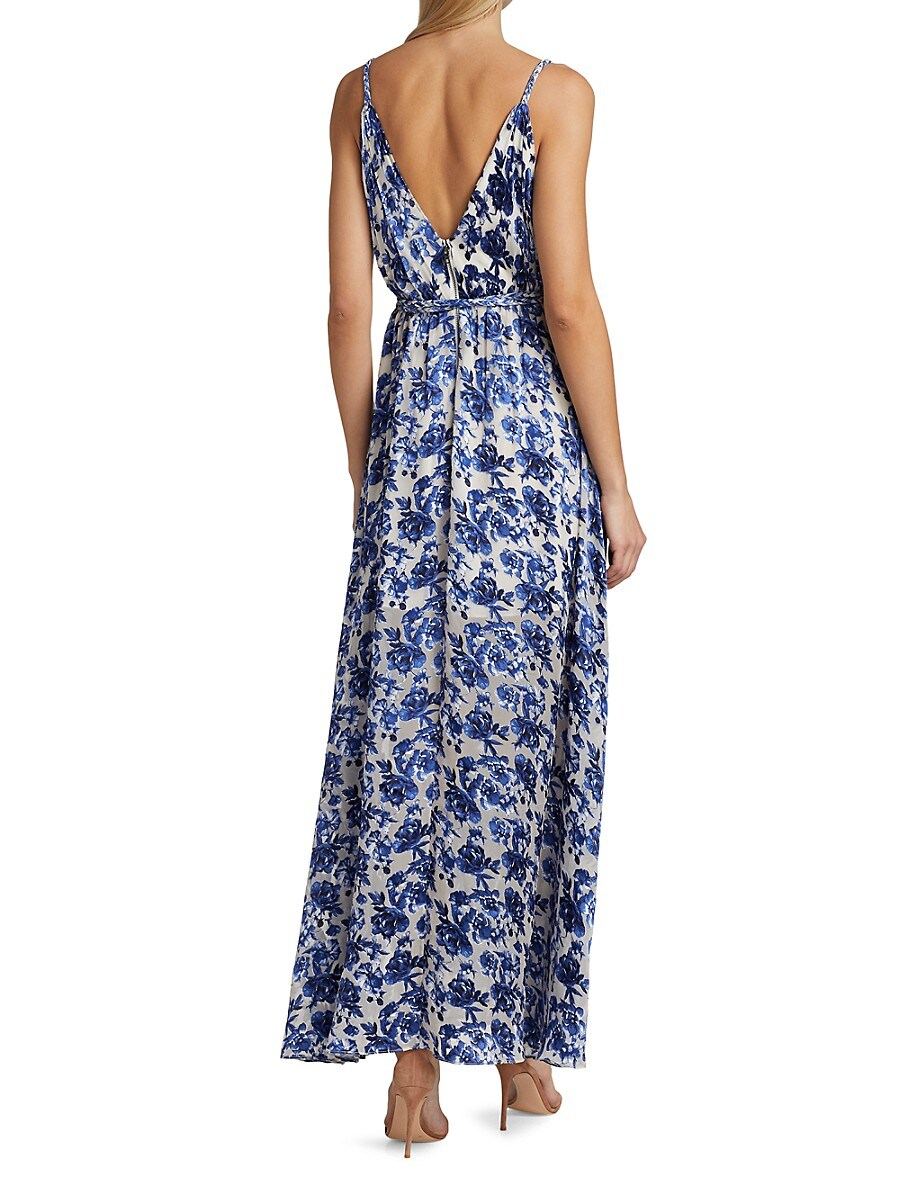 ALICE AND OLIVIA Maxi dresses WOMEN'S SAMANTHA BELTED MAXI DRESS