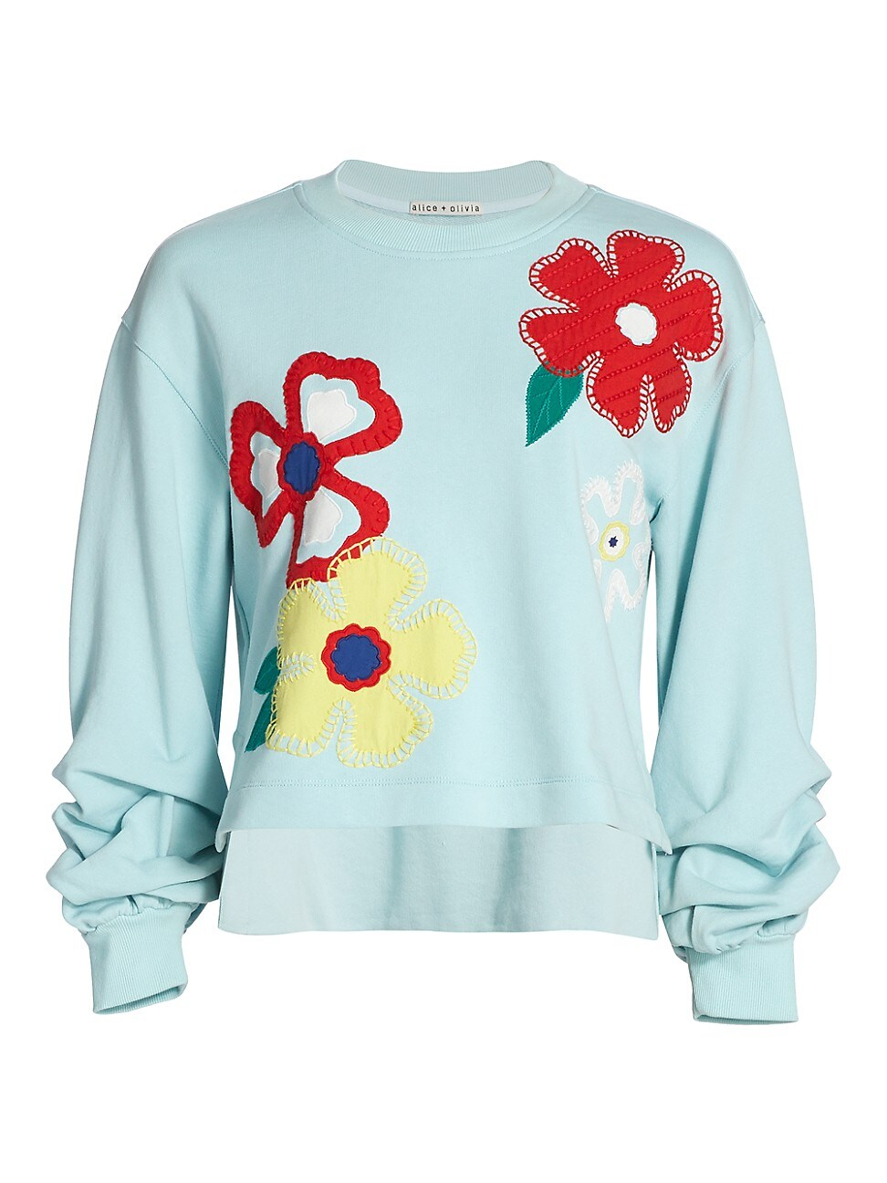 Alice And Olivia WOMEN'S GAIA EMBROIDERED STEP SWEATSHIRT