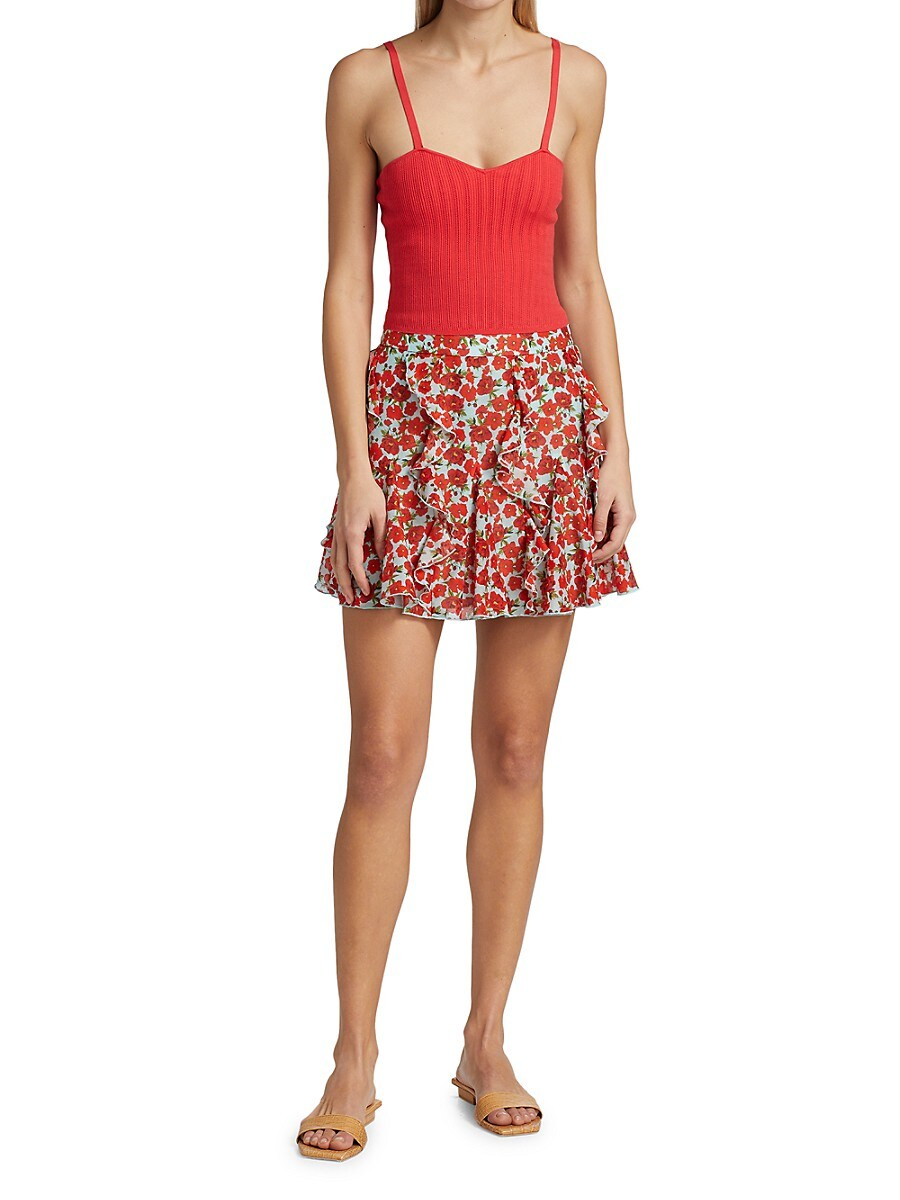 ALICE AND OLIVIA Knits WOMEN'S LAURETTA CAMI KNIT TANK TOP
