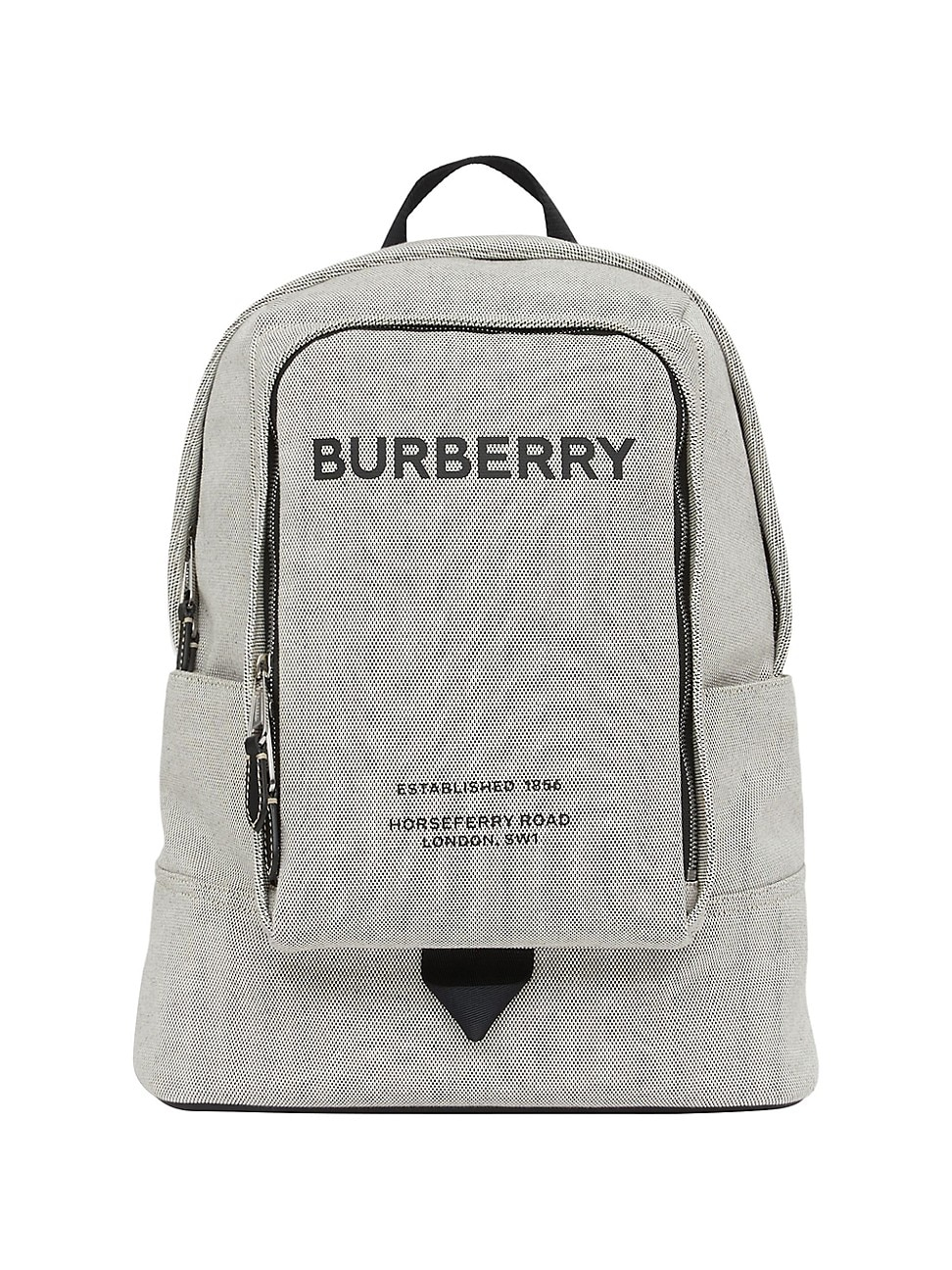 Burberry MEN'S LARGE LOGO PRINT COTTON CANVAS BACKPACK