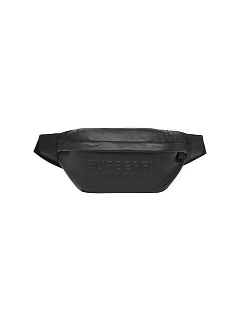 Medium Sonny Logo-Embossed Leather Belt Bag