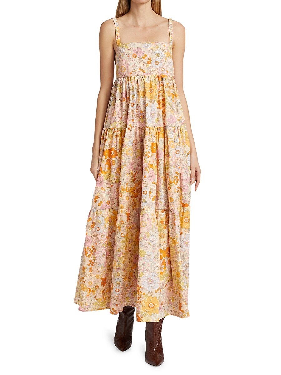 FREE PEOPLE Maxi dresses WOMEN'S PARK SLOPE MAXI DRESS
