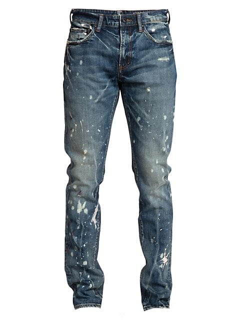 Windsor Distressed Paint Splatter Skinny Jeans