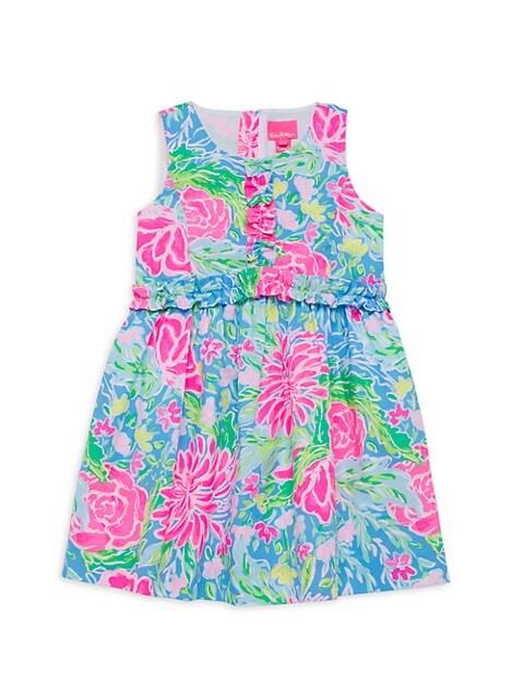 Little Girl's & Girl's Annalee Ruffled Floral Dress