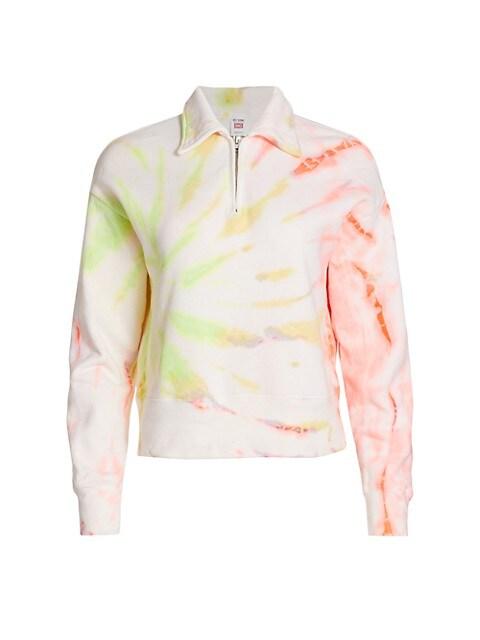 70s Tie-Dye Half-Zip Sweatshirt