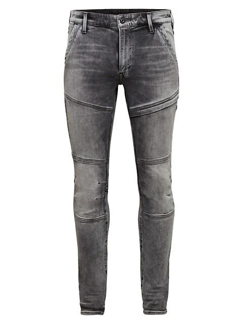D-Rackam 3D Skinny Faded Jeans