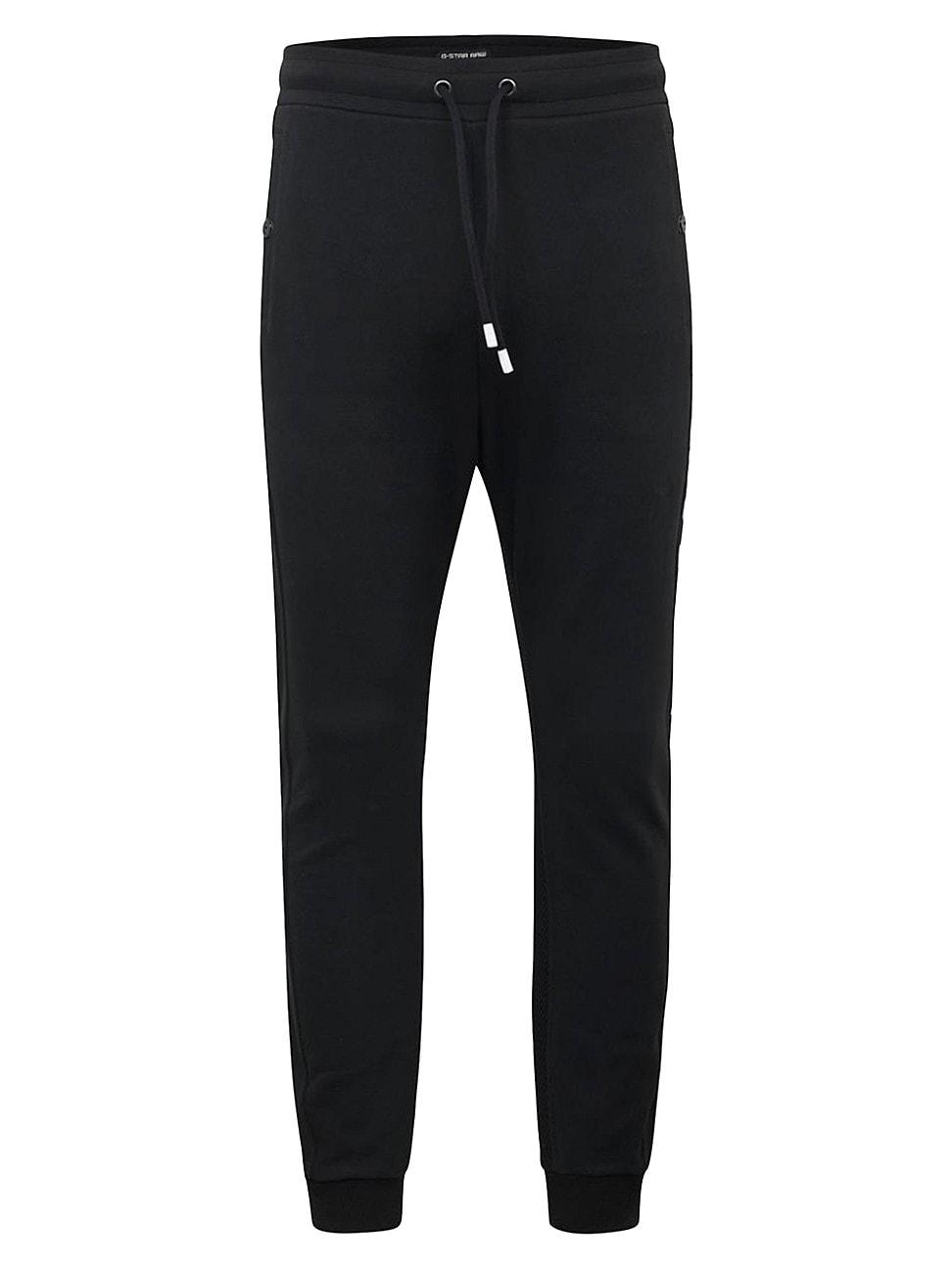 G-star Raw Women's Moto Mix Media Sweatpants In Dark Black