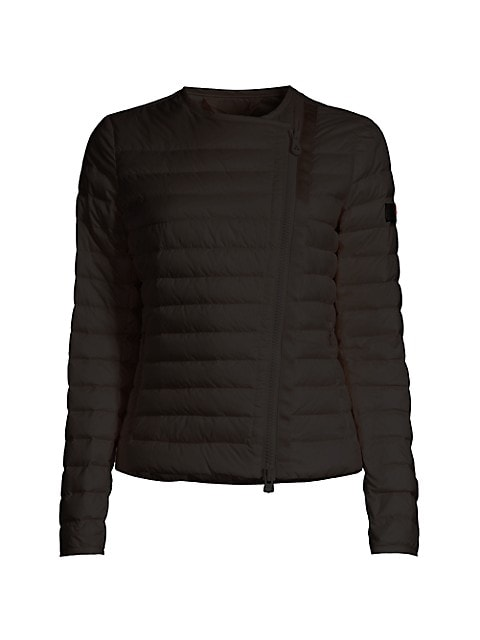 Dalasi Asymmetrical Zip Down Puffer Jacket