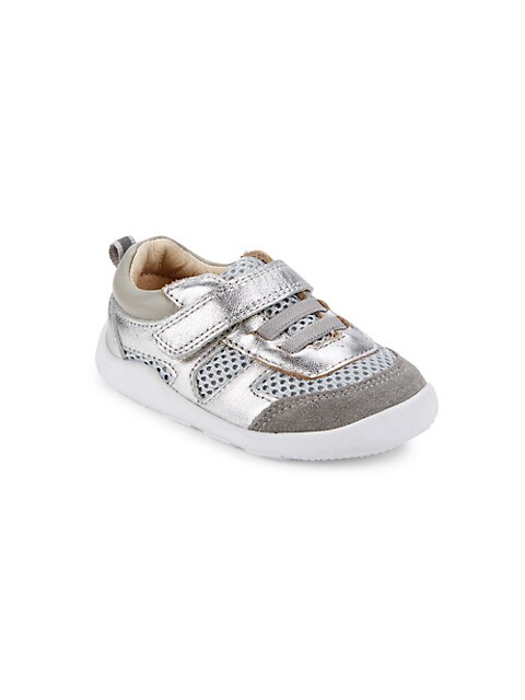 Little Girl's and Girl's Metallic Ground Control Sneakers