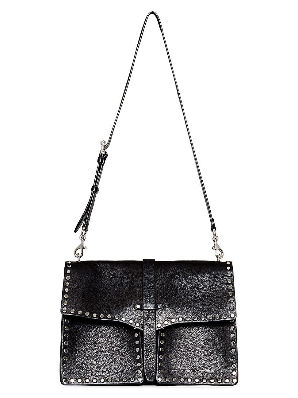 Rebecca Minkoff WOMEN'S NANINE STUDDED LEATHER SHOULDER BAG