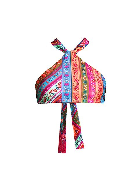 Colorful Bandana Bikini Top