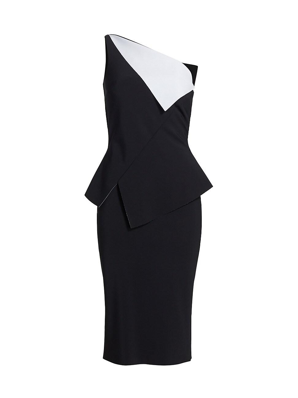 Chiara Boni La Petite Robe Dresses WOMEN'S CONTRAST ONE-SHOULDER DRESS