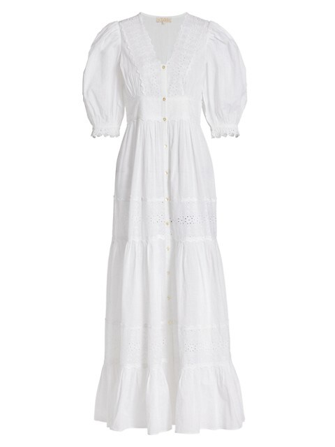 Memory Lane Cotton Slub Maxi Dress