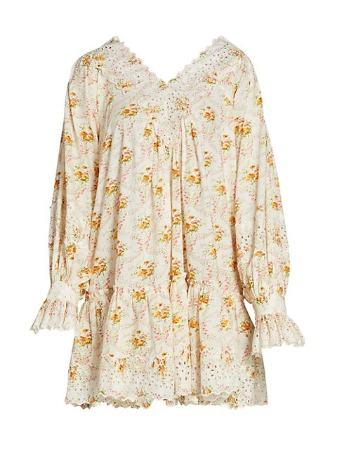 Floral V-Neck Mini Dress