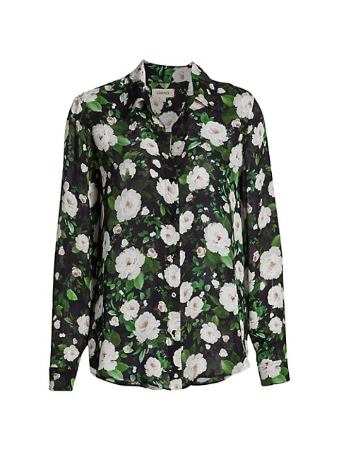 Nina Long Sleeve Floral Blouse