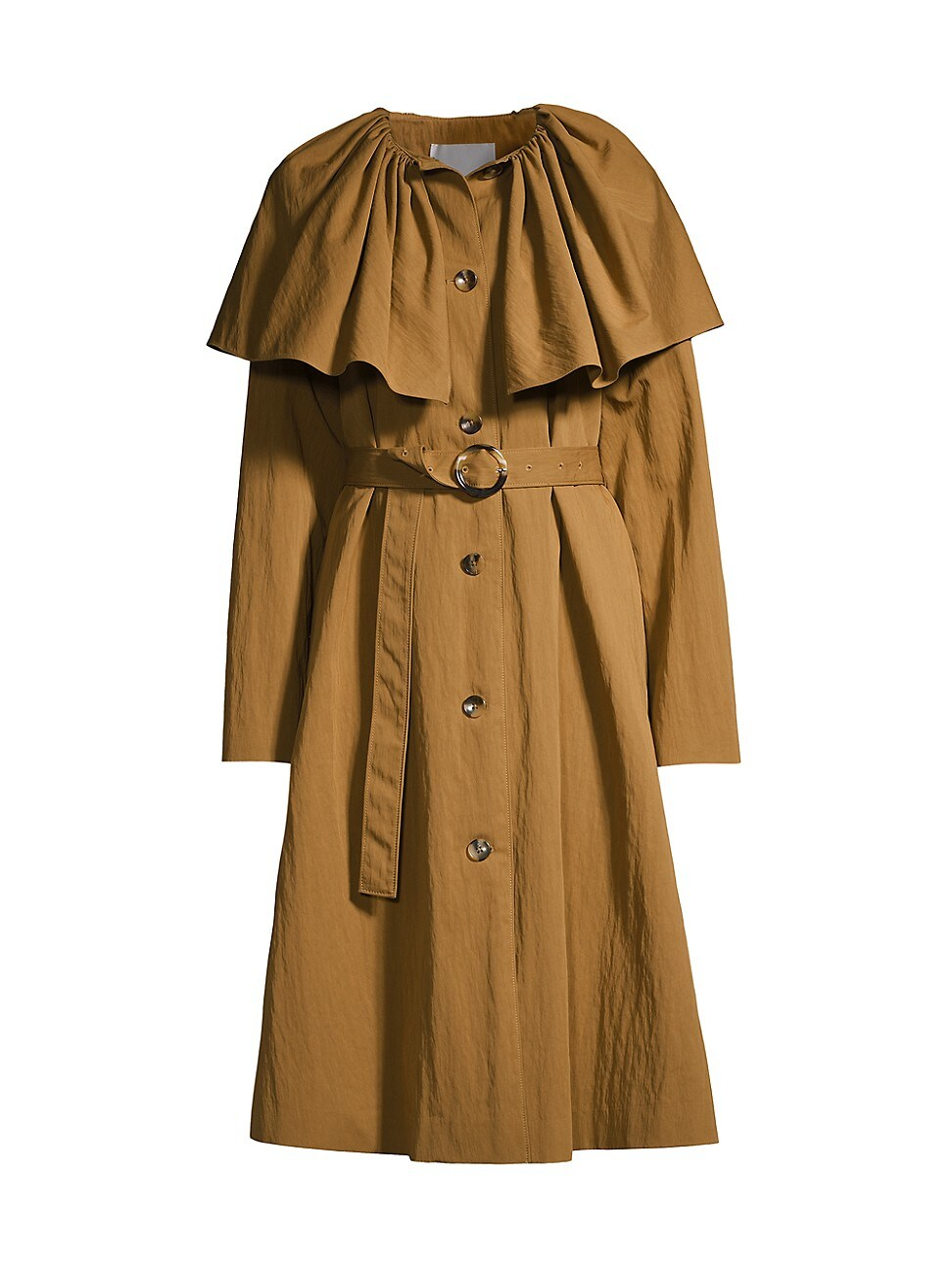 Rebecca Taylor Cottons WOMEN'S CAPED COTTON TRENCH COAT