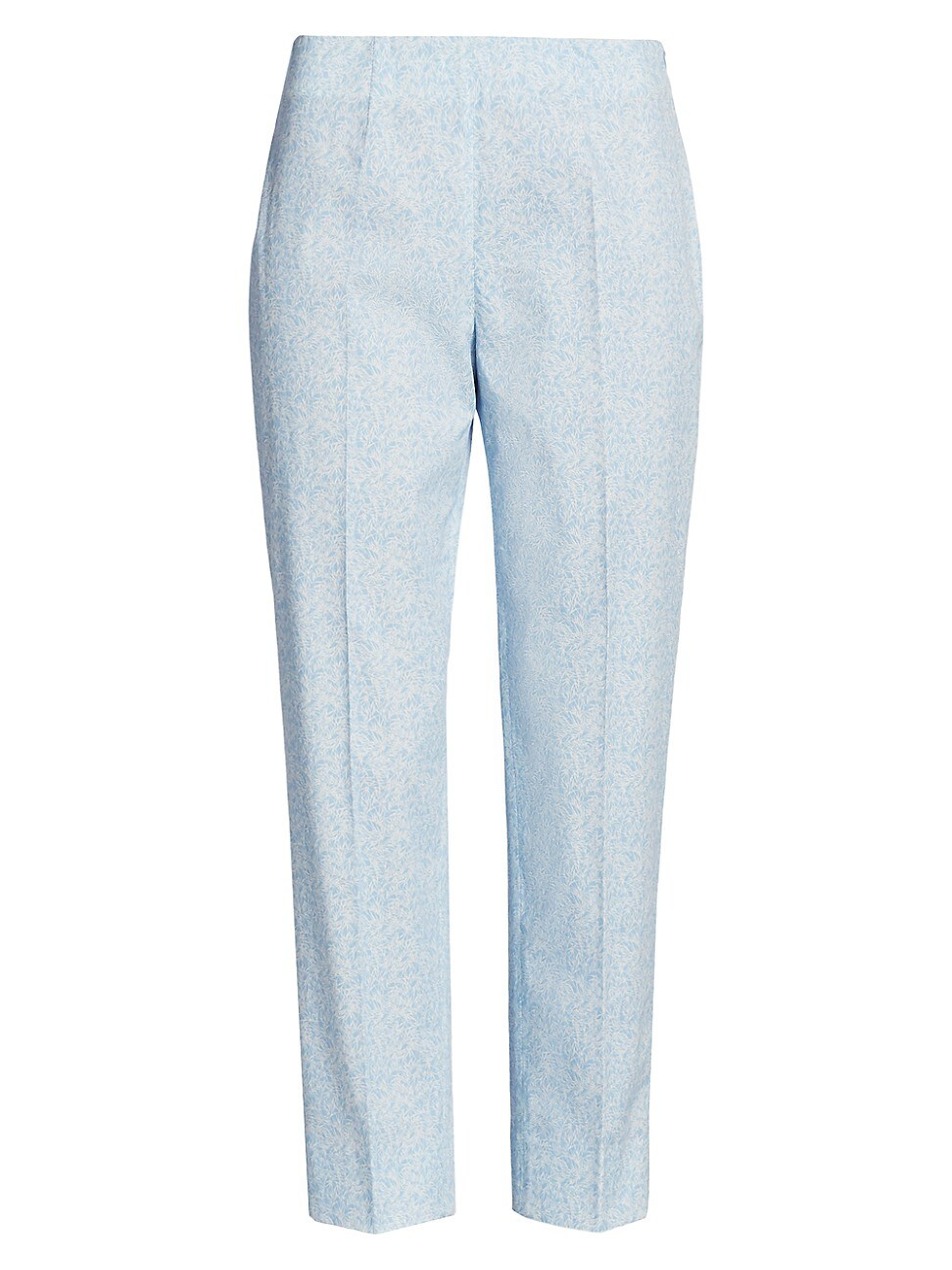 Piazza Sempione Women's Audrey Micro Pattern Stretch Trousers In Sky Blue White