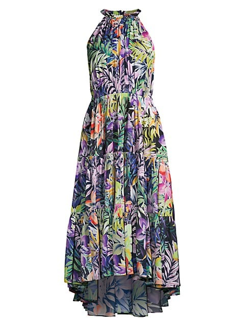 Hope Floral-Print Tiered Sleeveless Dress