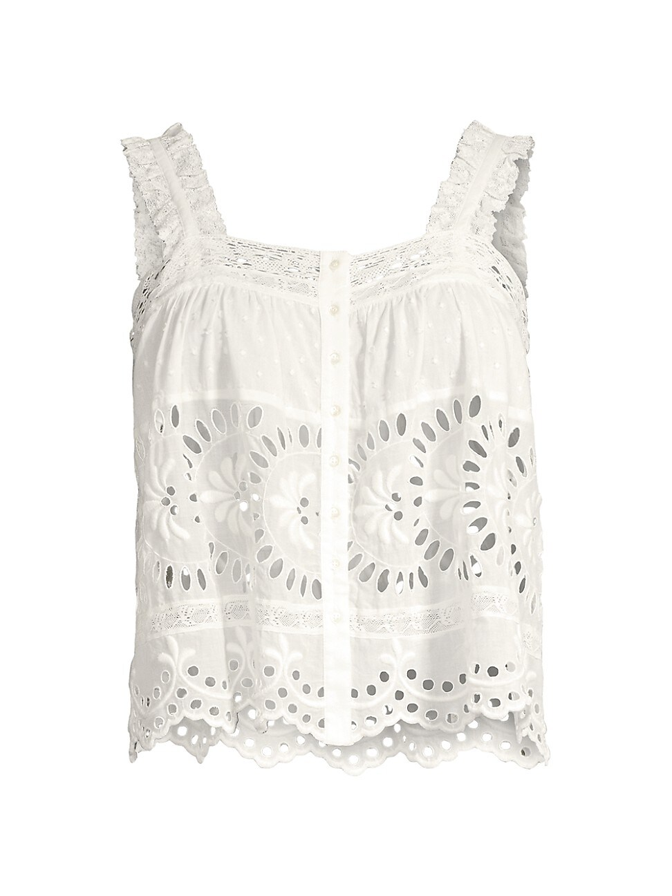 Loveshackfancy WOMEN'S UNDER THE ARCHWAY SULLY TOP