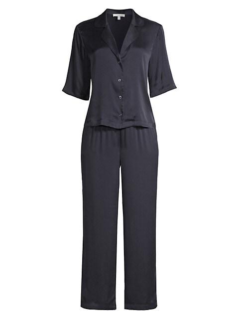Tay 2-Piece Silk-Satin Pajama Set