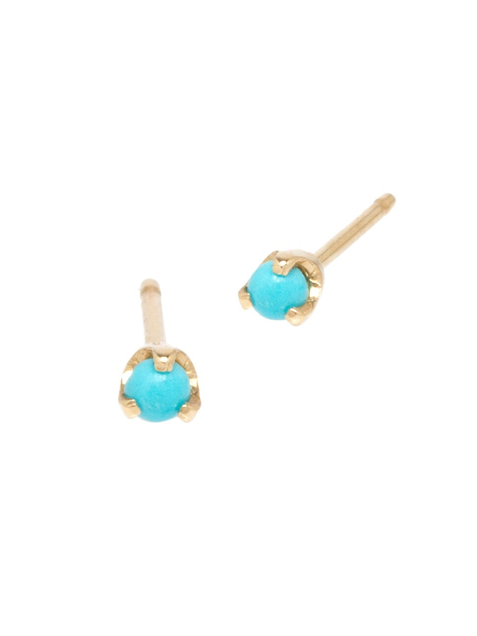 Zoë Chicco Women's 14k Yellow Gold & Turquoise Stud Earrings