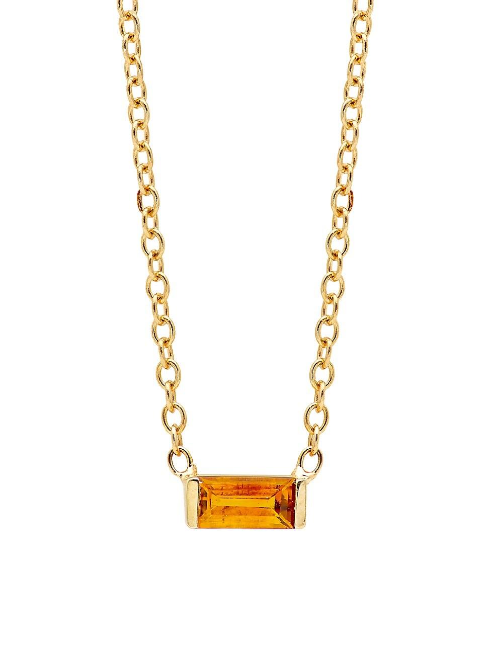 Zoë Chicco Women's Birthstones 14k Yellow Gold & Citrine Horizontal Baguette Necklace