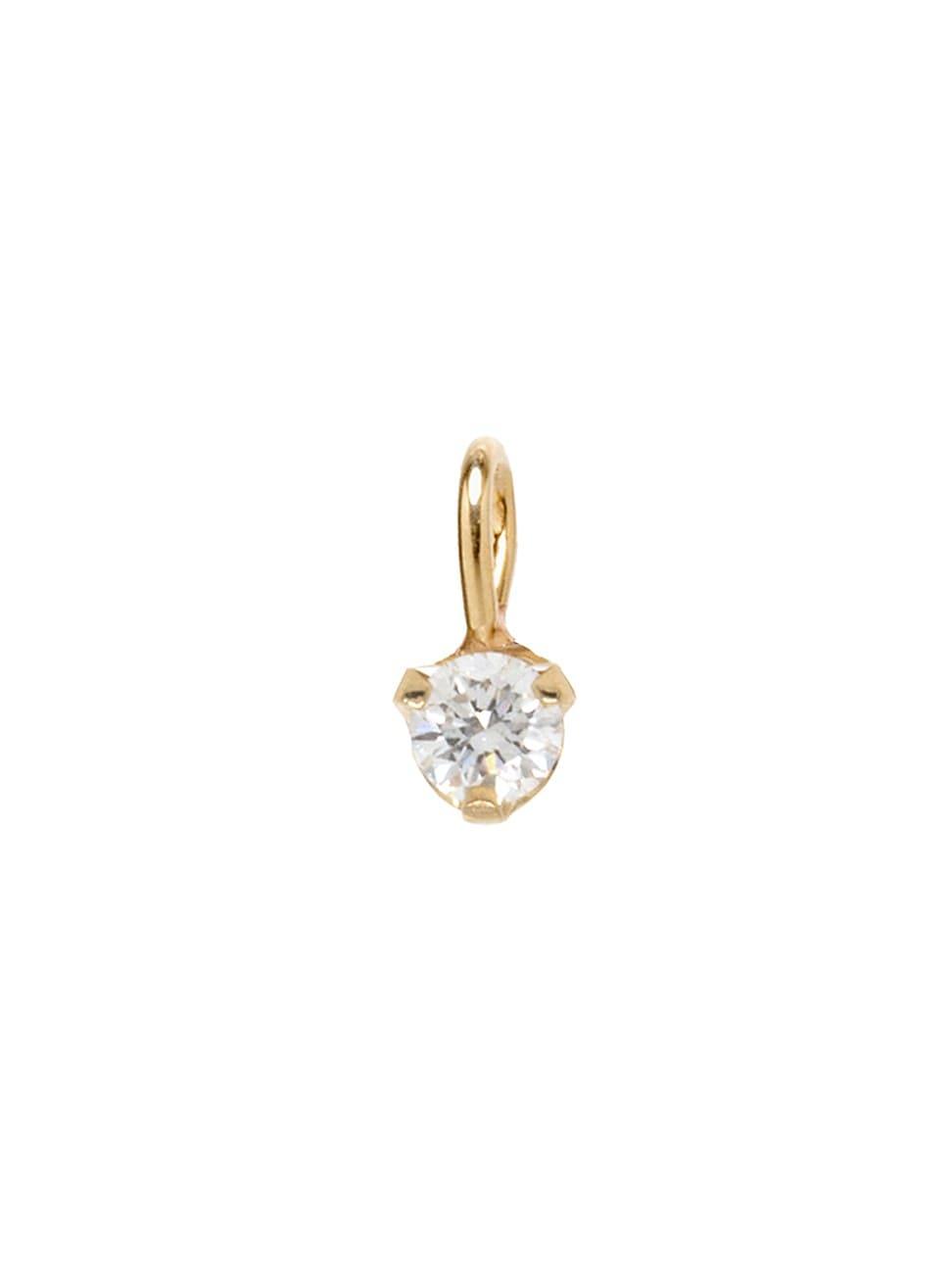 Zoë Chicco Women's 14k Yellow Gold & White Diamond Charm Pendant