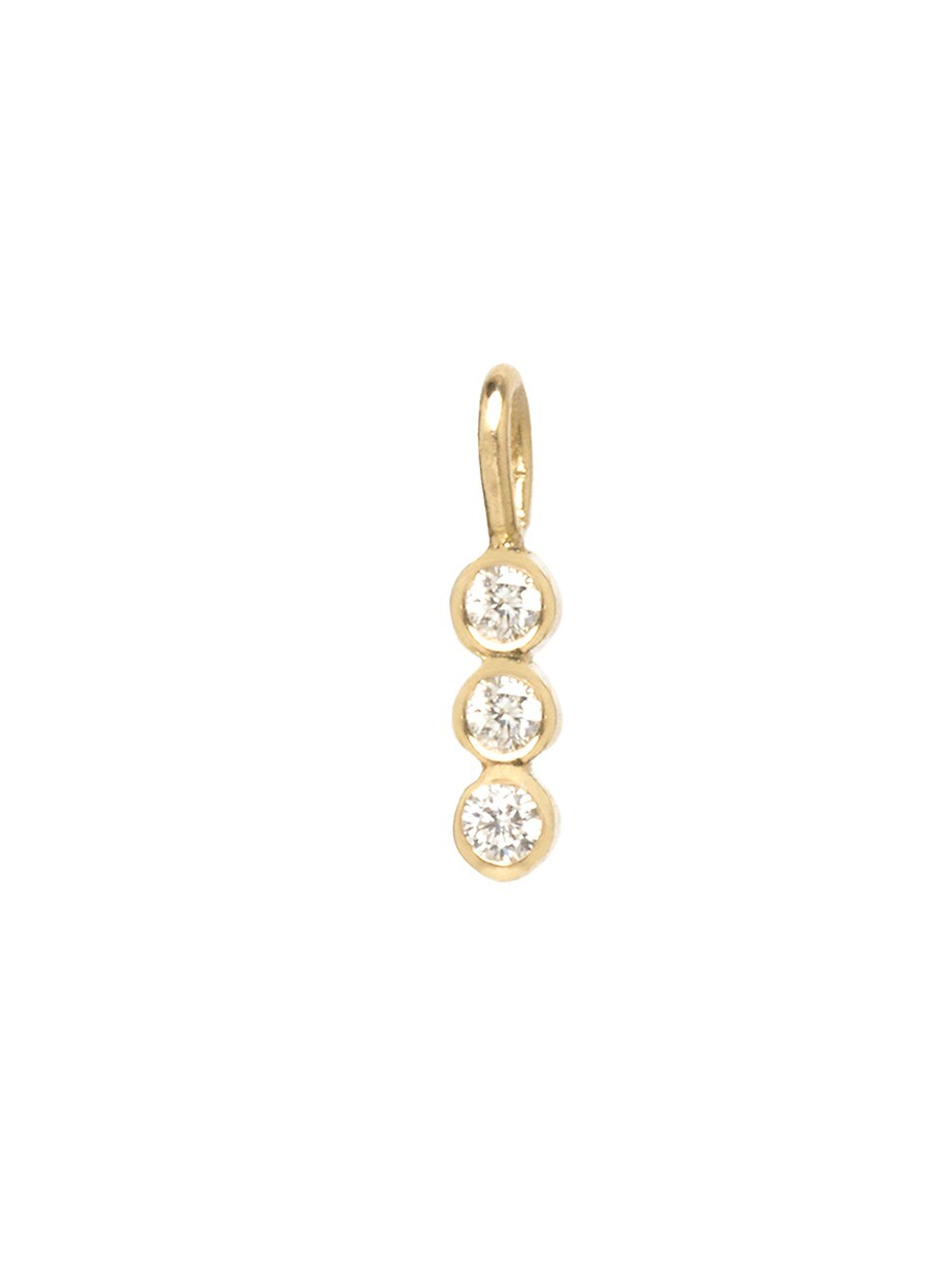 Zoë Chicco Women's 14k Yellow Gold & White Diamond 3 Vertical Charm Pendant