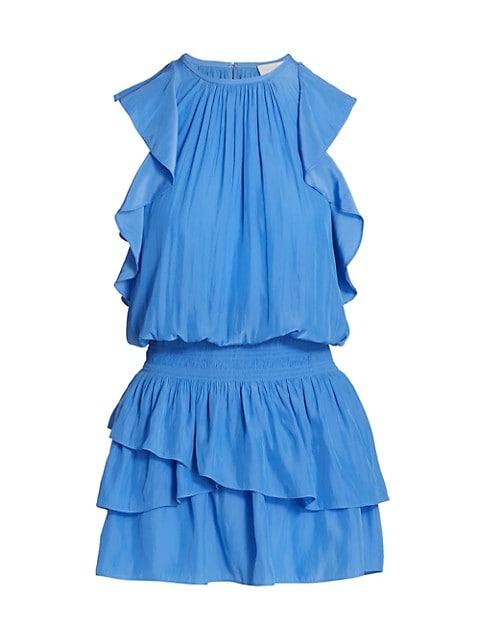 Rooney Flutter-Sleeve Mini Dress