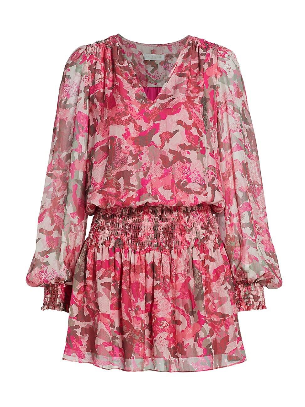 Ramy Brook WOMEN'S PRINTED SHAW MINI DRESS