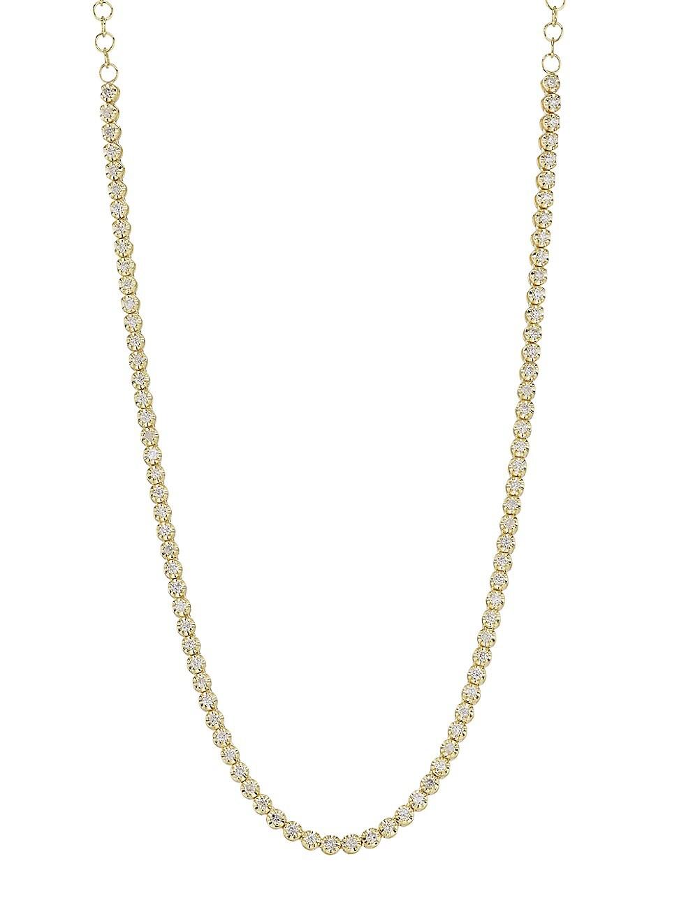 Meira T 14k Yellow Gold & Diamond Tennis Necklace