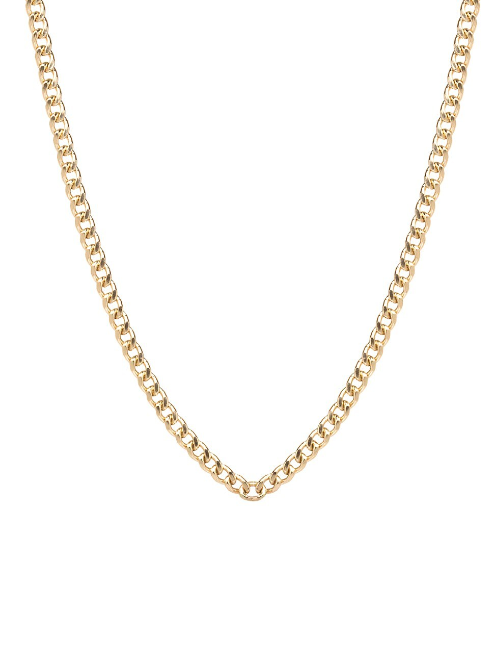Zoë Chicco Women's Heavy Metal 14k Yellow Gold Small Curb-link Necklace