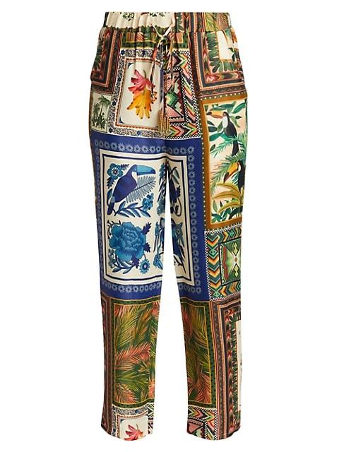 Mixed Scarf Pants