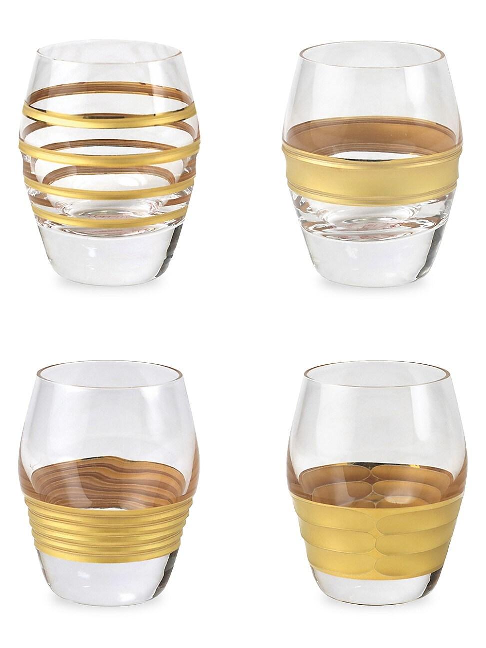 Vietri RAFFAELLO 4-PIECE ASSORTED LIQUOR GLASS SET
