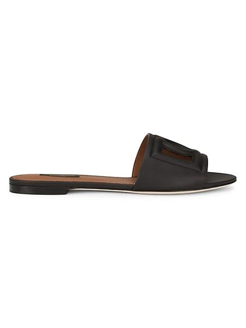 DG Millennials Leather Slides
