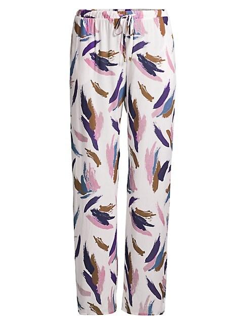 Paintstroke Print Pajama Pants