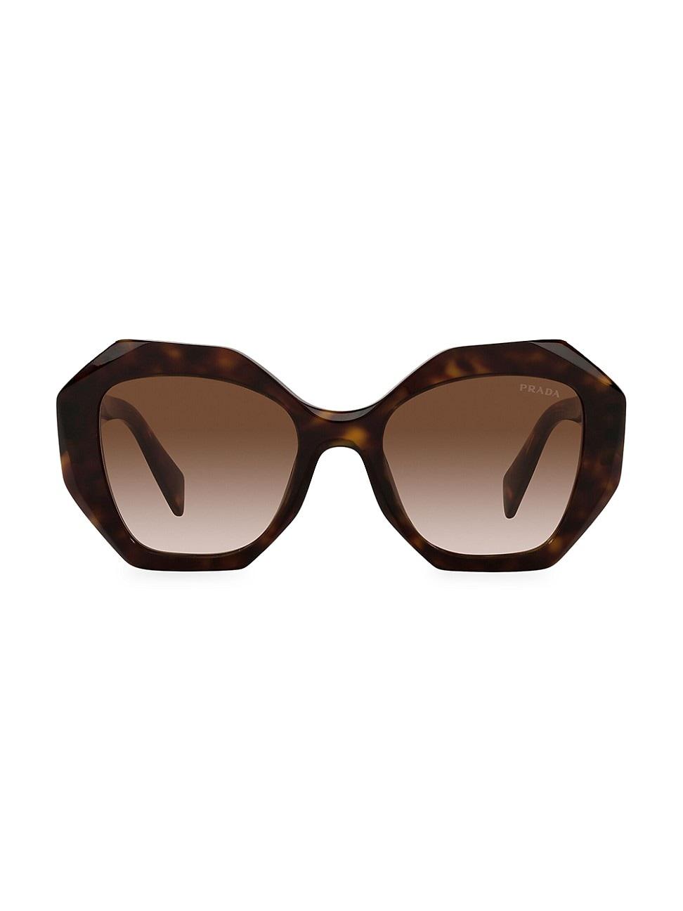 Prada Women's 53mm Geometric Sunglasses In Tortoise