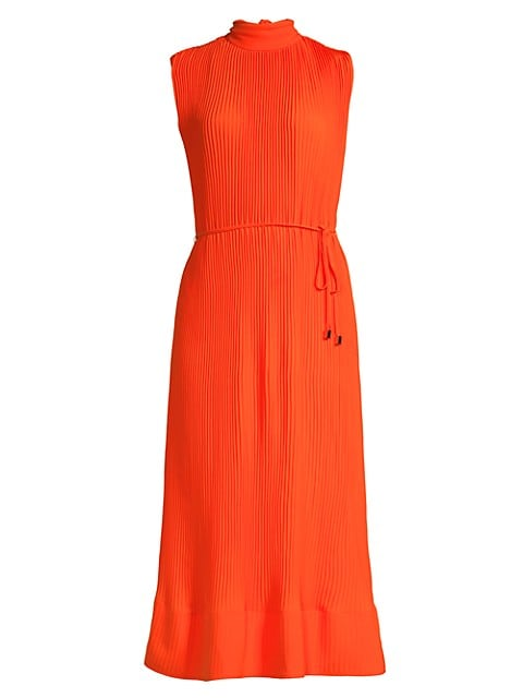 Melina Sleeveless Pleat Midi Dress