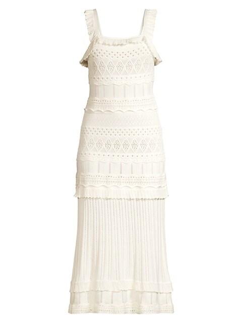 Pointelle Midi Dress