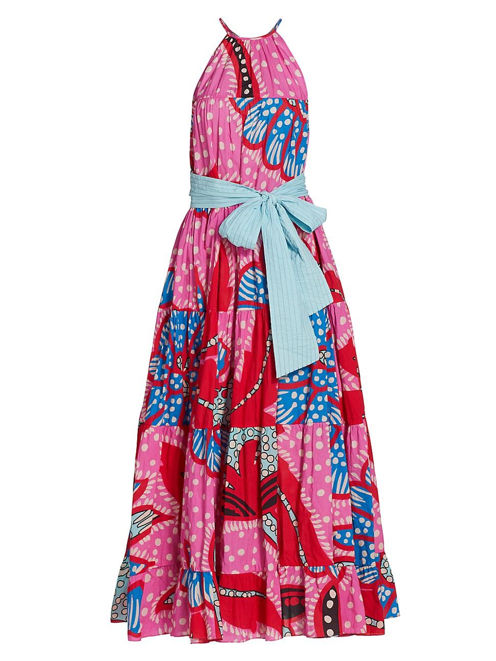 Rhode WOMEN'S JULIA PRINTED HALTERNECK MAXI DRESS